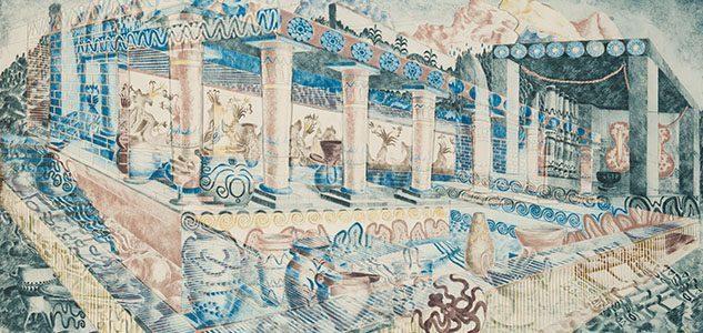 Ellisif Hals, Mito 1, 2014. Collage of drypoint, AnnaElle Gallery.